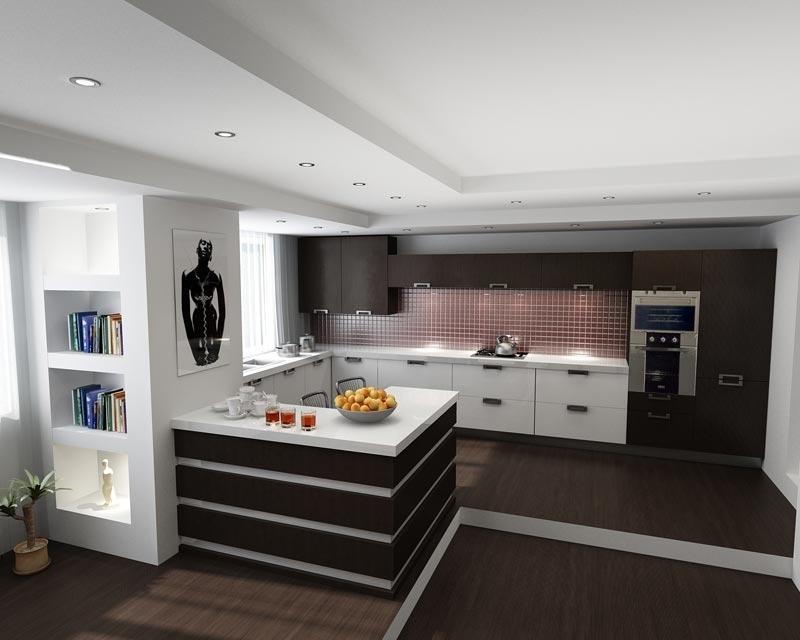 Дизайн кухня-зал фото